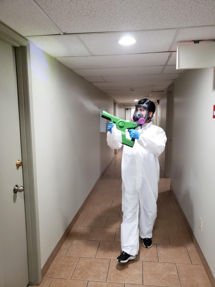 Janitorial disinfecting