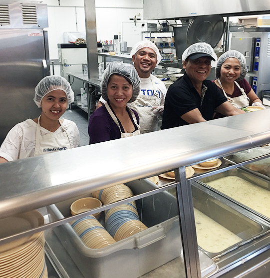 PPC team at a homeless shelter