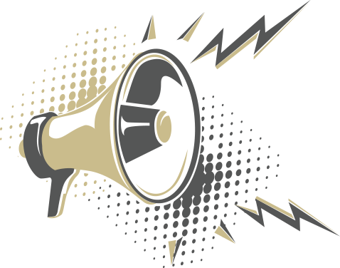 Mission Statement image with a megaphone